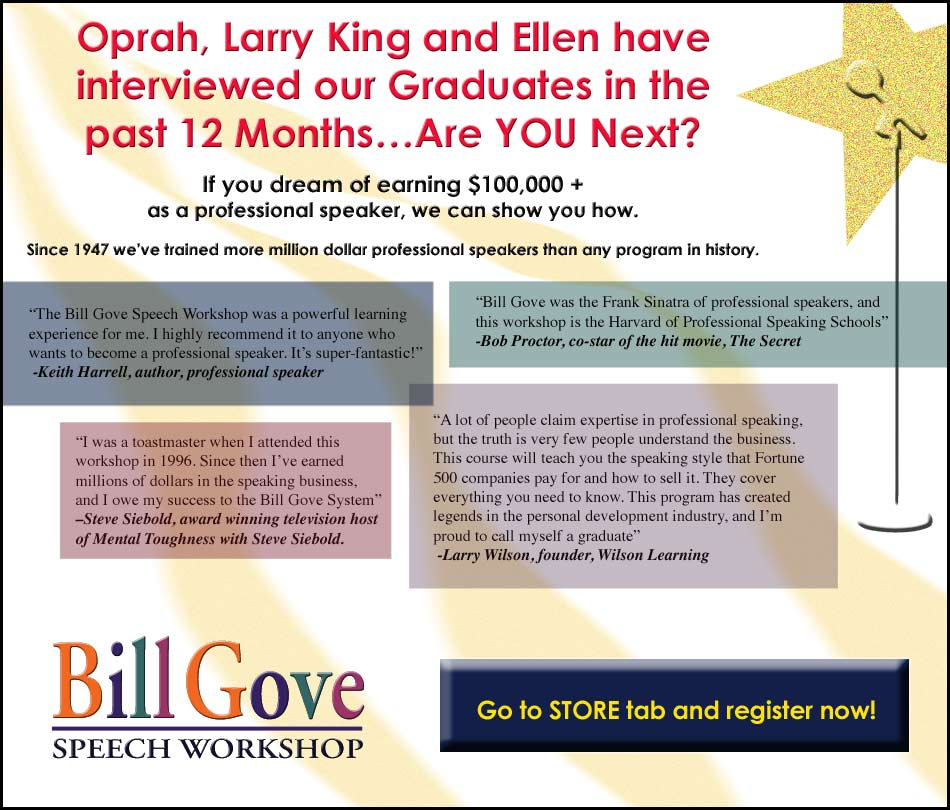 Bill Gove Speech Workshop